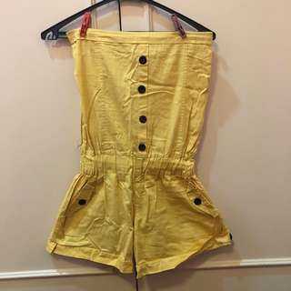 Yellow Romper with pockets