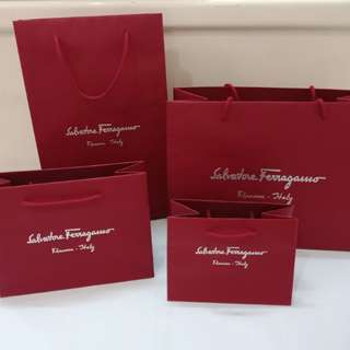 Salvatore Ferragamo Authentic paperbag original branded paper bag