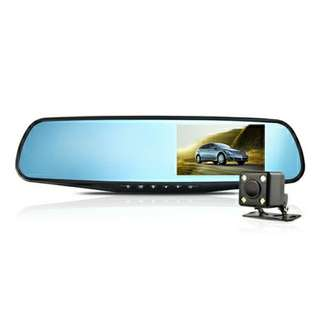 dual lens dashcam recorder DVR 4.3 inches black color