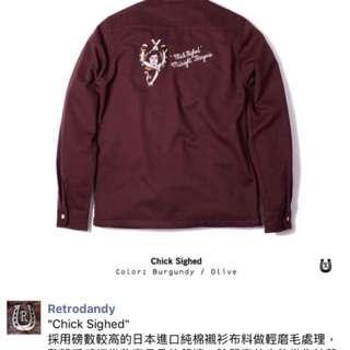 🚚 美式硬派 Retrodandy 酒紅襯衫M號