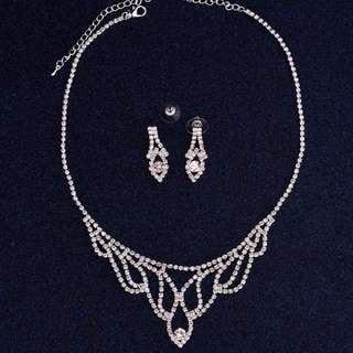 Bridal Wedding Artificial Necklace Earring Set