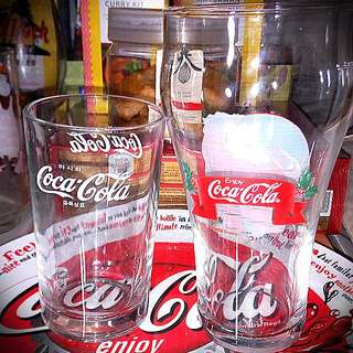 Coca Cola Drinking Glass. Korea. Set Of 2 $12nett.