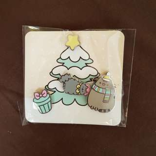 4 pin set Stormy Christmas Tree - Pusheen Subscriptipn Box Winter 2017