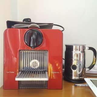Nespresso Le Cube with Milk Frother