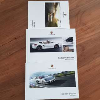 porsche boxster s 981 sales brochure marketing press info catalogue catalog English technical specifications equipment exclusive accessories roadster convertible spyder spider hardcover hardback book sportscar tequipment trim colours