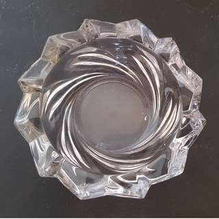 Vintage heavy cut glass ashtray