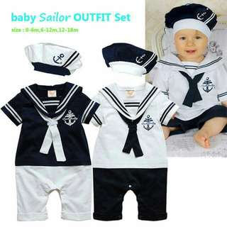 Baby SAILOR Outfit set Php550