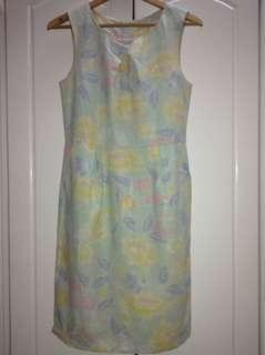 Floral Dress (Peacocks) PRICE REDUCE