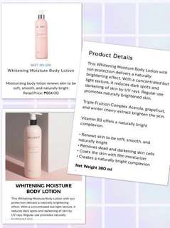 Whitening Body Lotion with Sunscreen