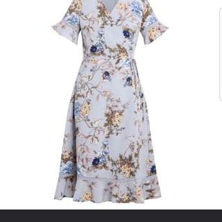 Zalora Floral Wrapped Dress