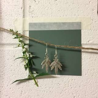 'Hotboxed' weed earrings