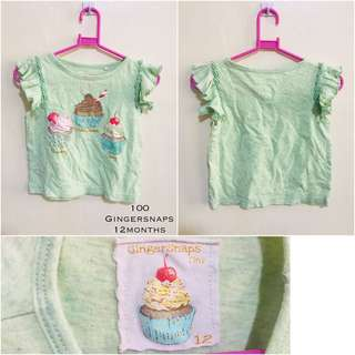 Pre-Loved Gingersnaps Top (12months)
