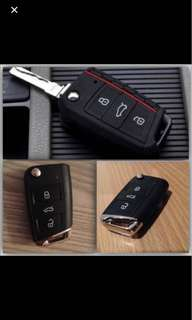 Top Quality Silicone Car Key Case Remote Bag Holder Cover For Volkswagen VW Golf 7 MK7