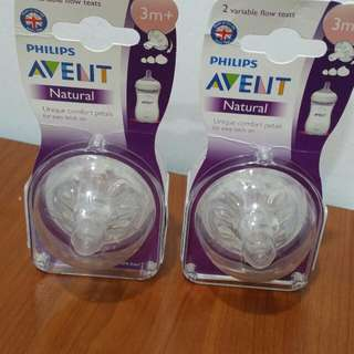 Philips Avent Teats Natural For 2pcs