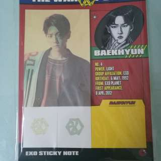 Ready stock- EXO BAEKHYUN STICKY NOTE SET