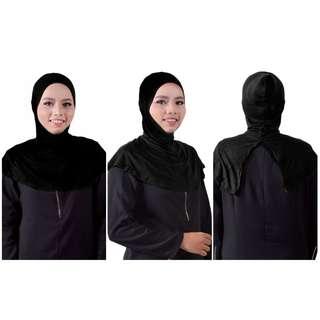 Inner Ninja Dagu Belah Belakang by Rozello Scarves INSTOCK