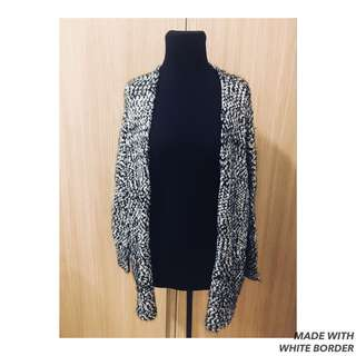 Dotti Black & White Knitted Sweater