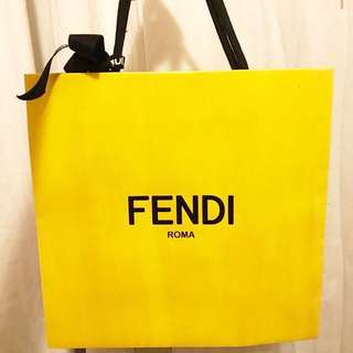 Fendi Paper Bag & Ribbon
