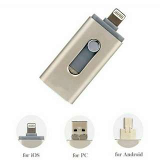 3 in 1 USB Flash Drive for iPhone and Android