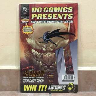 DC Comics First collector item issue BATMAN