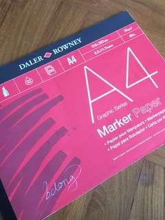 Daler Rowney A4 Marker Paper Sketchpad