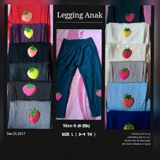 Legging STRAWBERRY anak