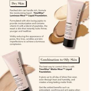 Mary Kay liquid foundation matte or luminous
