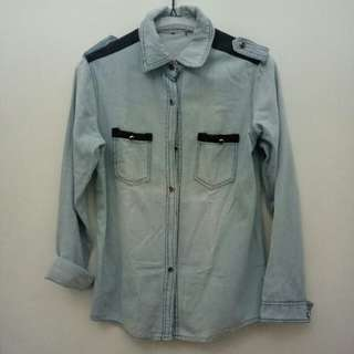 Kemeja Light Blue Jeans