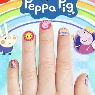 Little Cartoon Nail Sticker - HJT980  Per set contain 5 pcs  Design: pony, hello Kitty, Peppa pig  Size: 15*8.5cm
