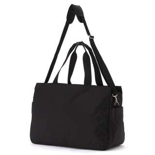 MUJI Boston Carry-on Bag with Side Pockets (Black)