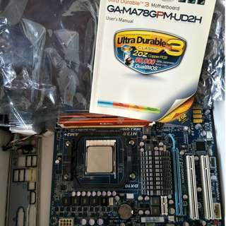 gigabyte GA-MA78GPM-UD2H motherboard with Phenom II  X4 810 Quad core and 8gb Ram