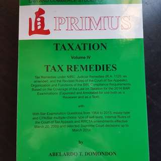 Tax Remedies Domondon Vol IV