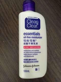 Clean & Clear oil-free moisturizer
