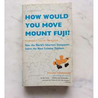 How would you move Mount Fuji by William Poundstone