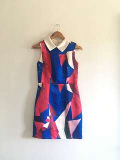 Mags Geometric Patterned Dress