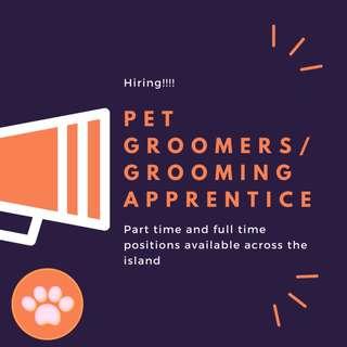 Part-time pet handlers / Grooming Assistants / Apprentices
