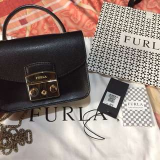 Authentic Furla Metropolis Mini Black