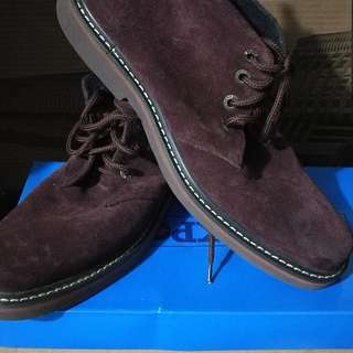 Pure leather midcut boots