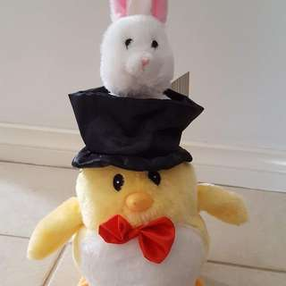 Musical easter soft toy