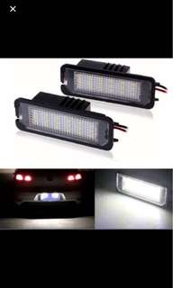 LED Number License plate lights for Volkswagen