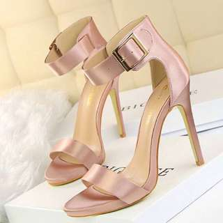 Purple ankle strap open toe heels sandals PRE ORDER