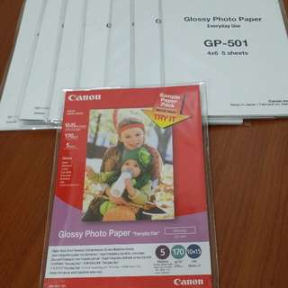 Canon Glossy Photo Paper 8 set in one price