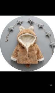 100%全新寶寶動物棉服超可愛