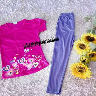 T-SHIRT LOVE  mix LEGGING