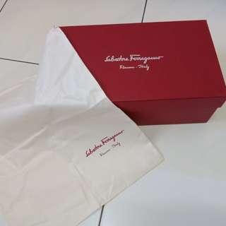 Salvatore Ferragamo Authentic Shoes Box Dust bag dustbag sepatu original