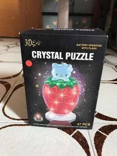 3D Crystal Puzzle hello kitty (red)
