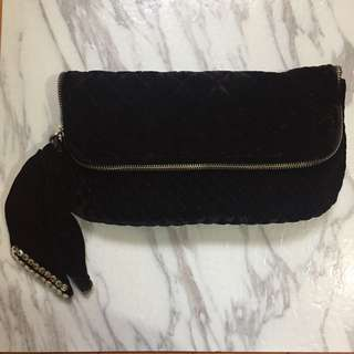Authentic juicy couture velour clutch 絨毛 毛袋
