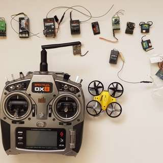 Dx8 + tiny whoop + transmitters