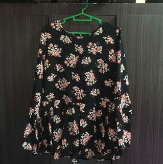 MIGHTY MARCH'18 SALE-FLORAL BABYDOLL BLOUSE
