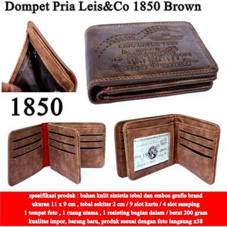 Dompet Pria Leis&Co Leather 1850 BROWN